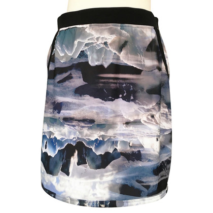 "Marc Cain Stretch skirt pressure ""icebergs"""