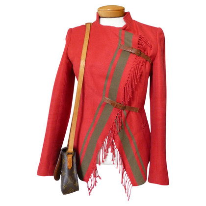 Dondup red blazer