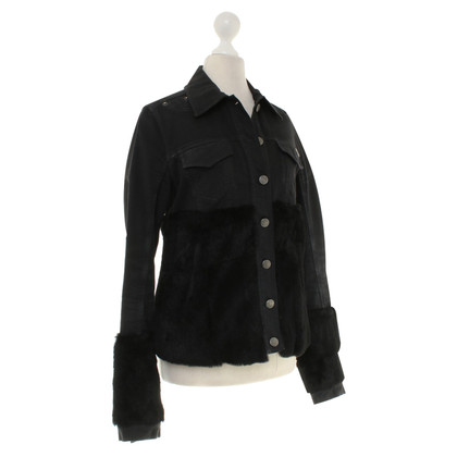 John Galliano Denim jacket in black