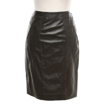 Hugo Boss leather skirt