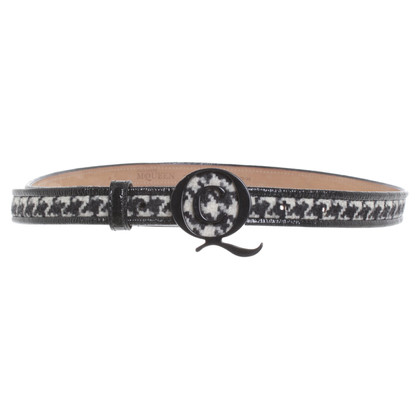 Alexander McQueen Narrow belt with logo clasp