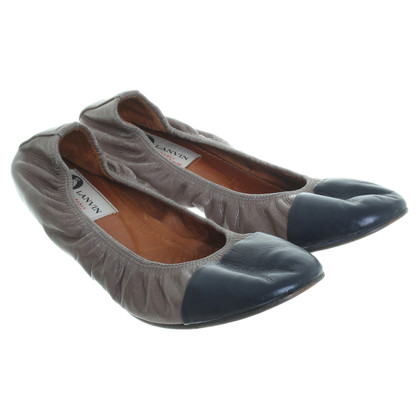 Lanvin Ballerinas in dark blue/grey