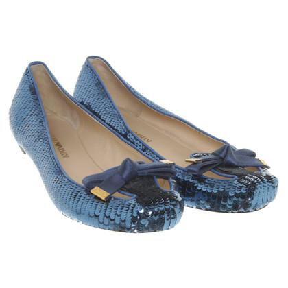 Armani Ballerinas in Blau
