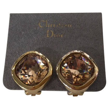 Christian Dior Ear clips with gemstone