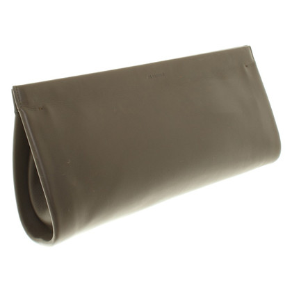 Jil Sander clutch in Taupe