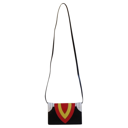 "Elena Ghisellini Shoulder bag ""Felina Funny Face"" in Multicolor"