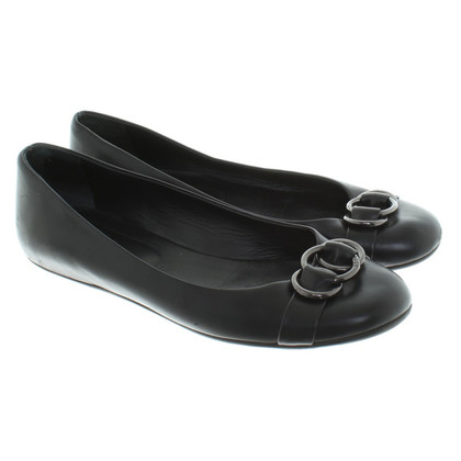Bally noir Ballerinas