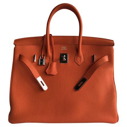 "Hermès ""Birkin Bag 35 Togo Leather Orange H PHW"""