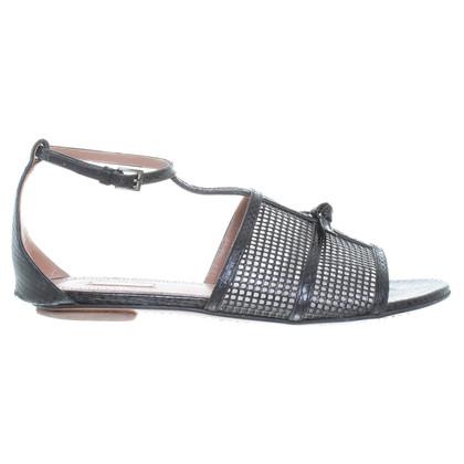 Alaïa Reptile leather sandals