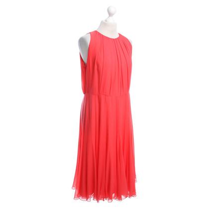 Max Mara Silk dress in coral red