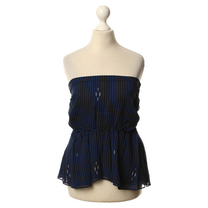 Isabel Marant Striped top in blue/black