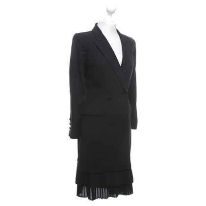 Twin-Set Simona Barbieri Black coat with pleats