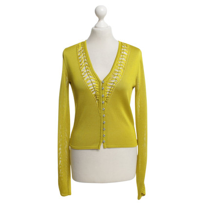 John Galliano Cardigan en jaune moutarde