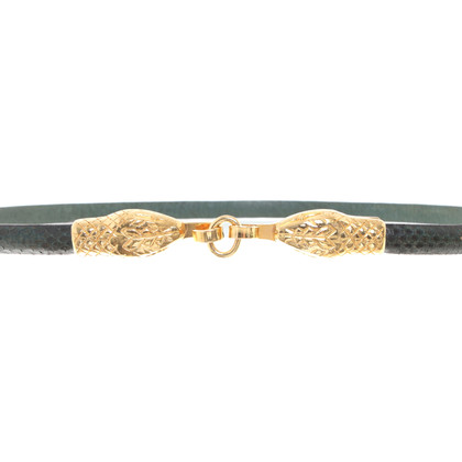Hoss Intropia Belt made of reptile leather