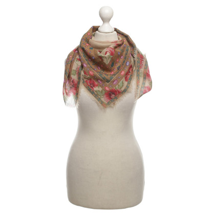 Jil Sander Scarf with flower pattern