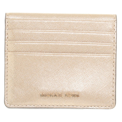 Michael Kors Gold colored wallet with logos