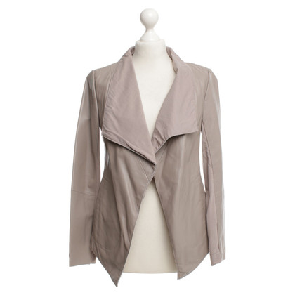 Donna Karan Jacket made of leather and cotton