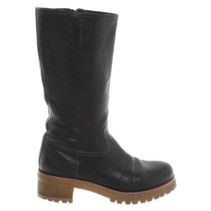 Prada Boots in dark brown