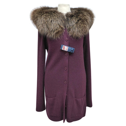 Christian Dior Fox Fur collar Cardigan