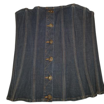 Dolce & Gabbana corset Denim