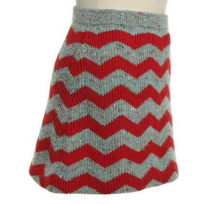 Miu Miu Knitted skirt with pattern