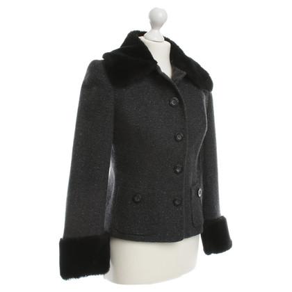 Dolce & Gabbana Blazer con dettaglio di pelliccia del faux