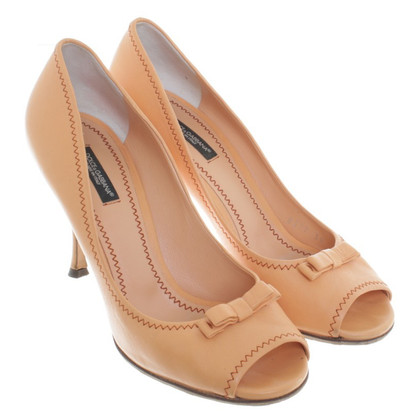 Dolce & Gabbana Peeptoes in Apricot