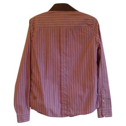 Hugo Boss Blouse with leather collar