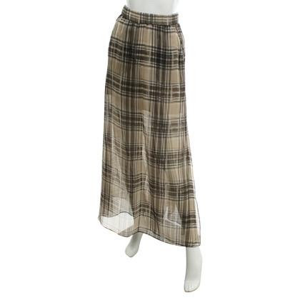 Brunello Cucinelli Silk skirt with plaid pattern
