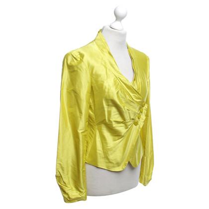 Armani Collezioni Silk-Blazer in giallo