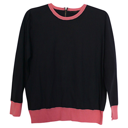 Cos Sweater in donkerblauw / roze