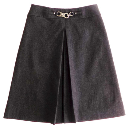 Céline Wool skirt with front pleat