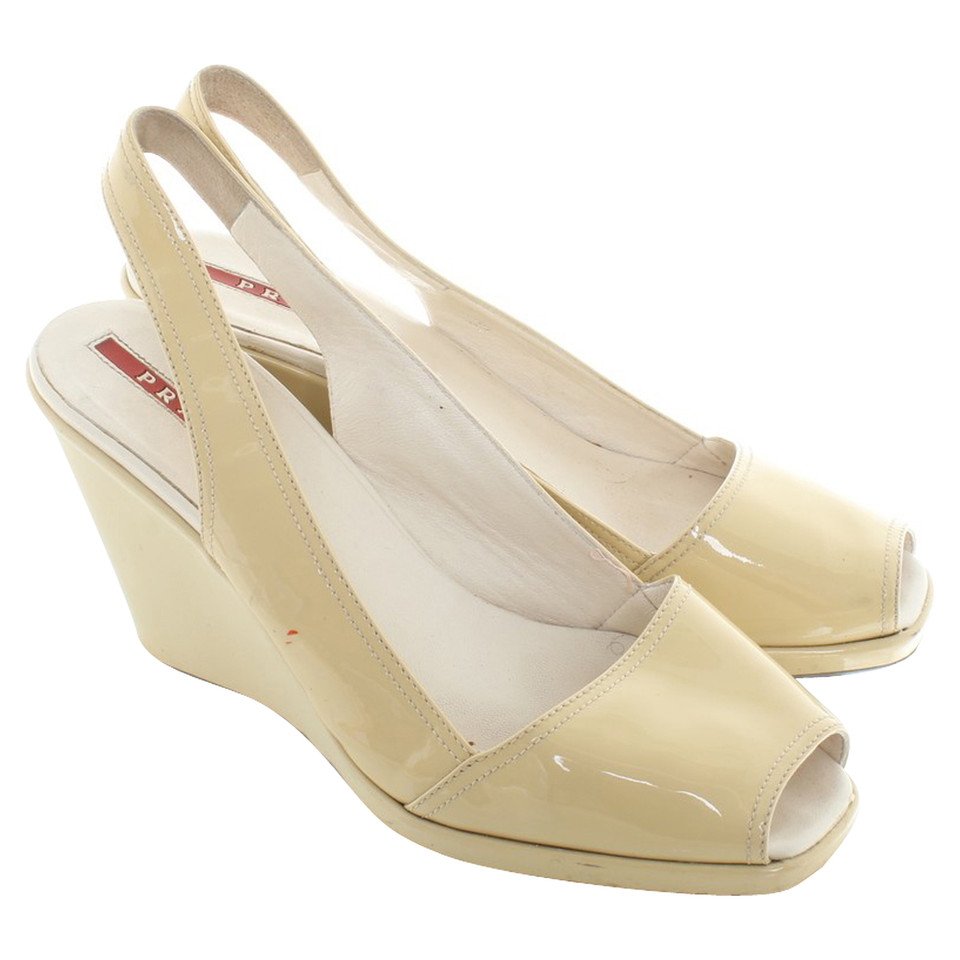 Prada Slingbacks made of patent leather