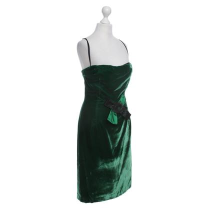 Dolce & Gabbana Samtkleid in Grün