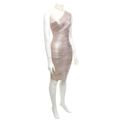 Hervé Léger Dress in rose-metallic