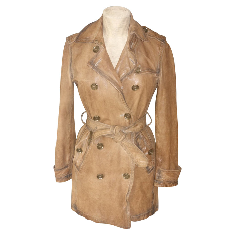 Burberry Trenchcoat aus Leder Second Hand Burberry