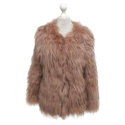Luisa Cerano Fur jacket in blush pink