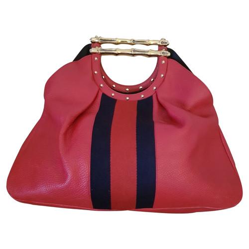 magasin en ligne 3e4a0 cb295 Gucci Sac à main en Cuir en Rouge - Acheter Gucci Sac à main ...