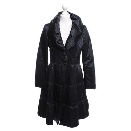 Moschino Love Woven coat in black