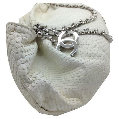 Chanel Chanel white python hobo bag silver hdw
