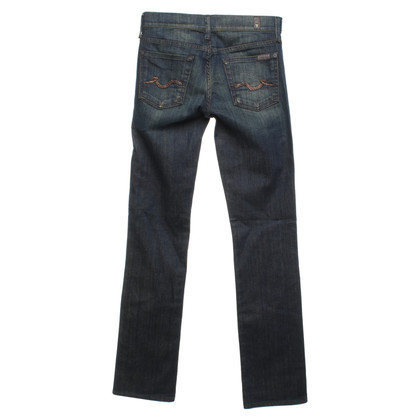 7 For All Mankind Jeans in donkerblauw / groen