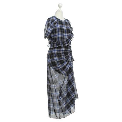 Maje Long dress with check pattern