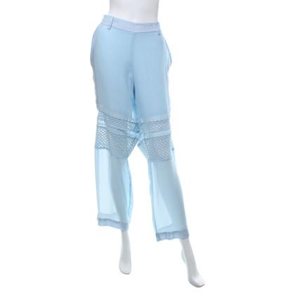 Just Cavalli Silk broek in lichtblauw