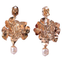 Dolce & Gabbana Flower clips earrings with pearls red