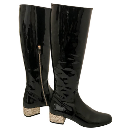 Saint Laurent Patent Leather Boots