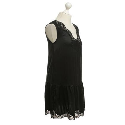 Twin-Set Simona Barbieri zijden jurk in zwart