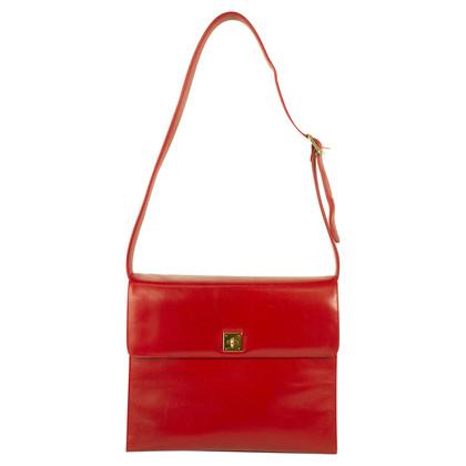 Ferre Vintage Red leather flap shoulder bag