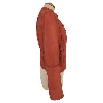Oakwood Veste en cuir orange