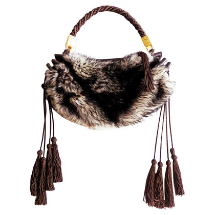 Roberto Cavalli Pouch with fur trim