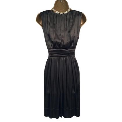 DKNY zijden jurk met plooien